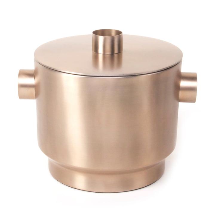 Rondo Ice cube tray, copper steel, Ø 18 cm from XLBoom