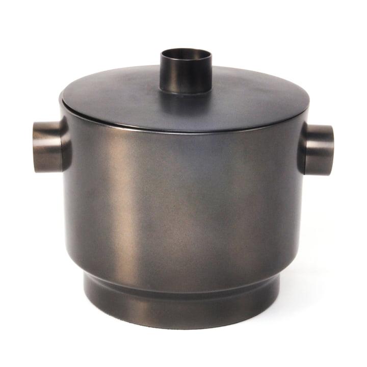 Rondo Ice cube tray, steel black, Ø 18 cm from XLBoom