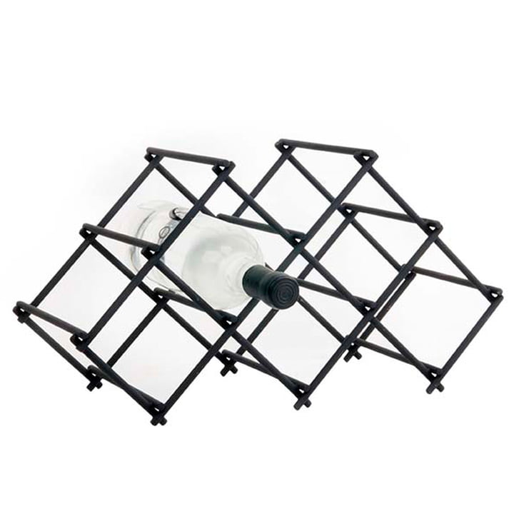 Diamond Wine rack, for 5 bottles, black by XLBoom