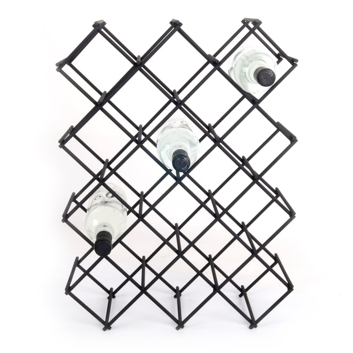 Diamond Wine rack, for 18 bottles, black by XLBoom