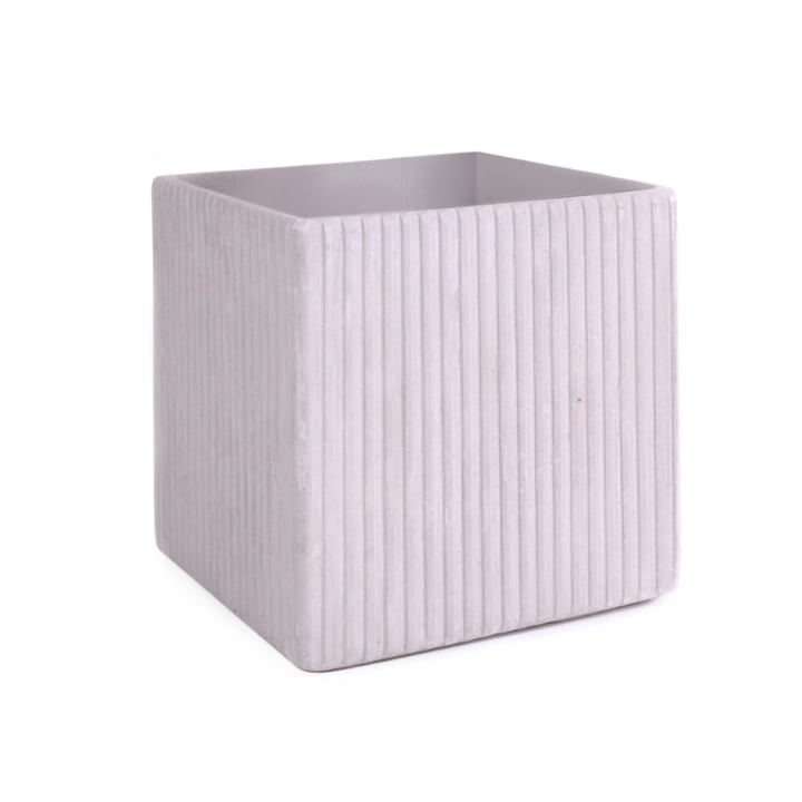 Mon Square Flowerpot S, grey from XLBoom