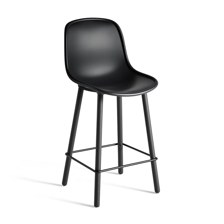 Neu12 Barstool from Hay in softblack with 65 cm seat height