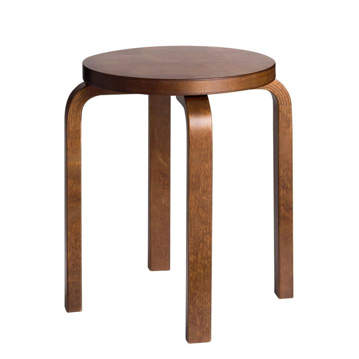 E60 stool by Artek stained in walnut