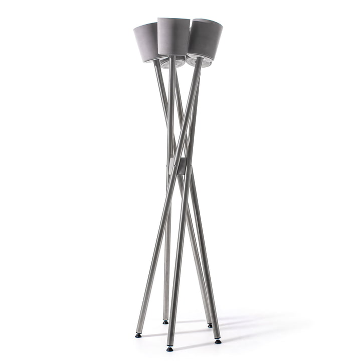 high garden, stainless steel / concrete gray planter by urbanature