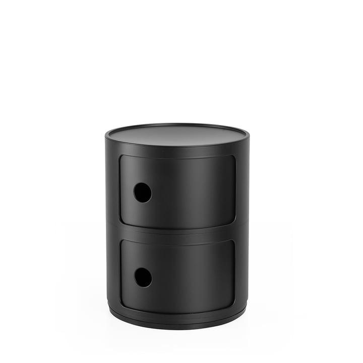 Componibili 4986, black matt by Kartell