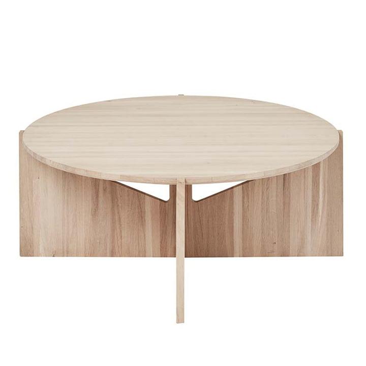 Coffee table XL Ø 78 H 36 cm by Kristina Dam Studio in oak