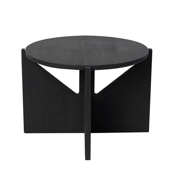 Coffee table XL Ø 52 H 36 cm by Kristina Dam Studio in black