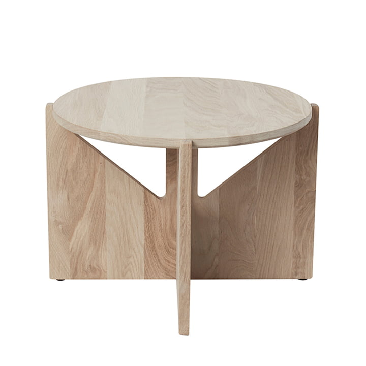 Coffee table XL Ø 52 H 36 cm by Kristina Dam Studio in oak