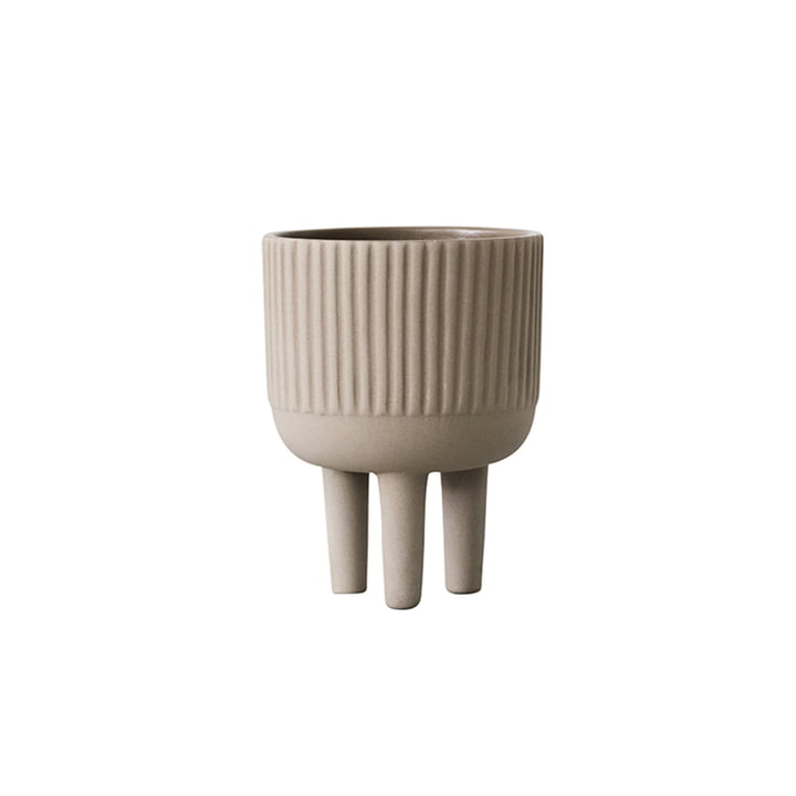 Bowl flowerpot S Ø 12 cm by Kristina Dam Studio in gray