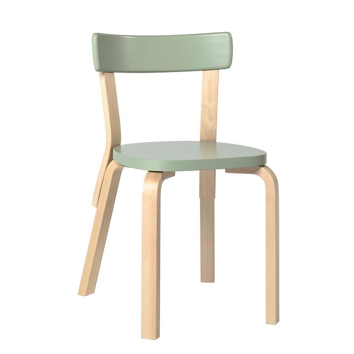 Chair 69 by Artek in birch / green