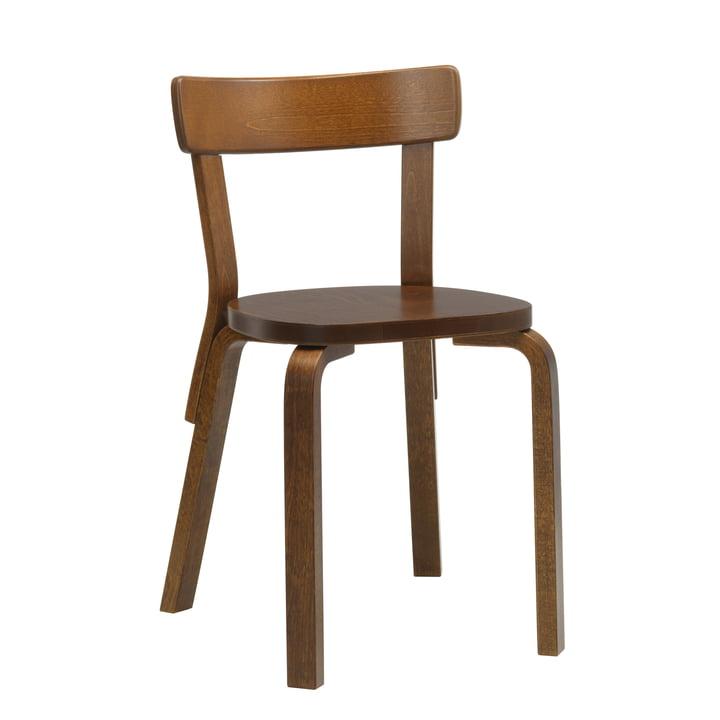 Chair 69 by Artek stained in walnut