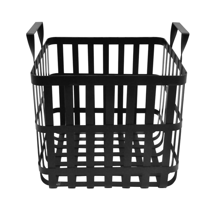 The Wire storage basket H 30 cm, black from the Connox Collection