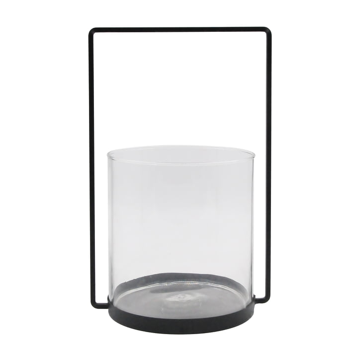 The lantern metal H 36 cm, black from the Connox Collection