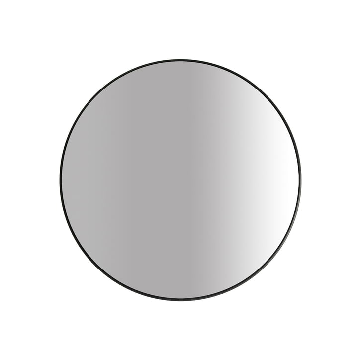 The Big mirror Ø 60 cm, black by yunic
