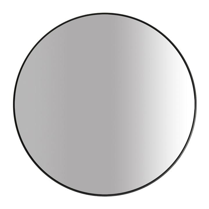 The Big mirror Ø 100 cm, black by yunic