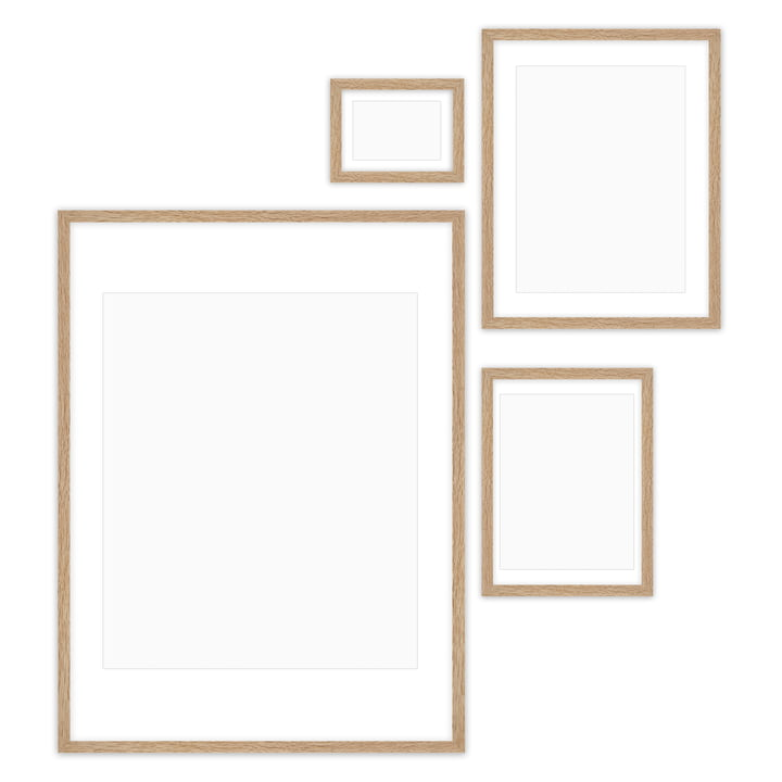 Gallery Wall picture frame set (4 Connox Collection ), oak by Connox Collection