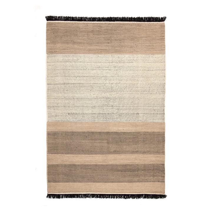 Tres Stripes 200 x 300 cm from nanimarquina in black
