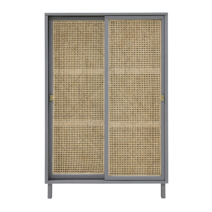 Retro Webbing chest of drawers, with sliding door, gray by HKliving