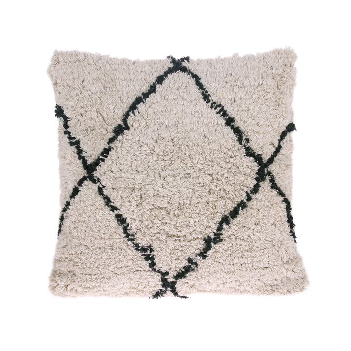 Diamond cushion 50 x 50 cm by HKliving in white / black