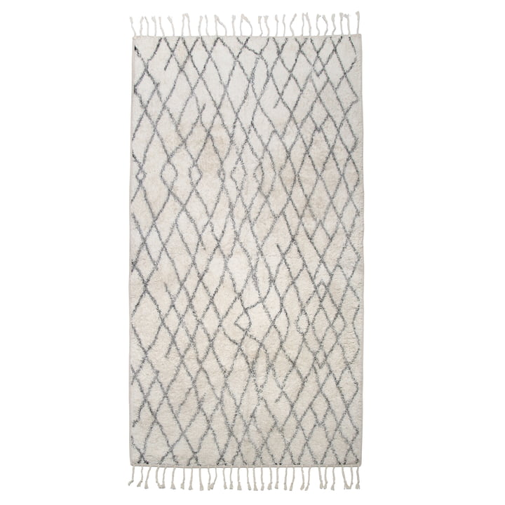 Bath mat L 90 x 175 cm by HKliving in gray