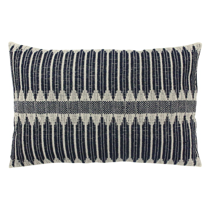 Aztec Weave cushion 40 x 60 cm by HKliving in blue / white