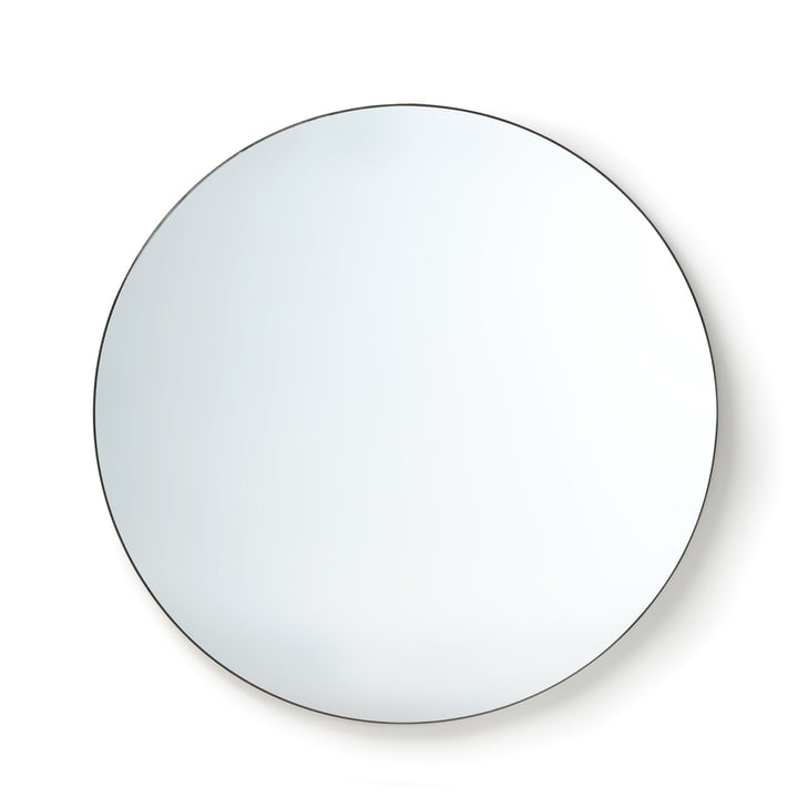 HKliving - wall mirror, Ø 120 cm, black