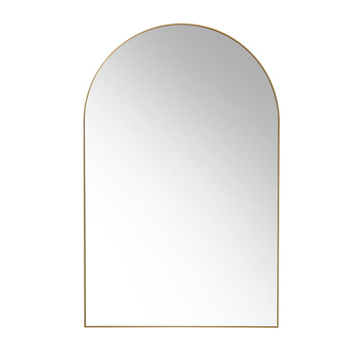 HKliving - Arch wall mirror, 92 x 59.5 cm, brass