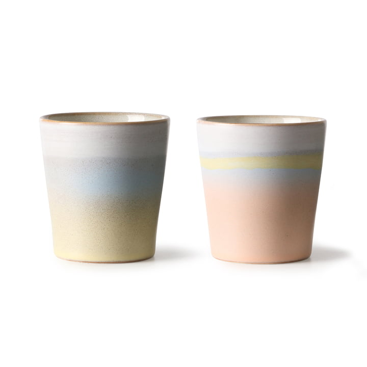 70's Horizon cup 0.18 l (set of 2) from HKliving in multicoloured