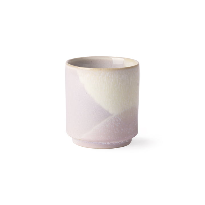 Gallery coffee mug Ø 7 cm by HKliving in purple / yellow