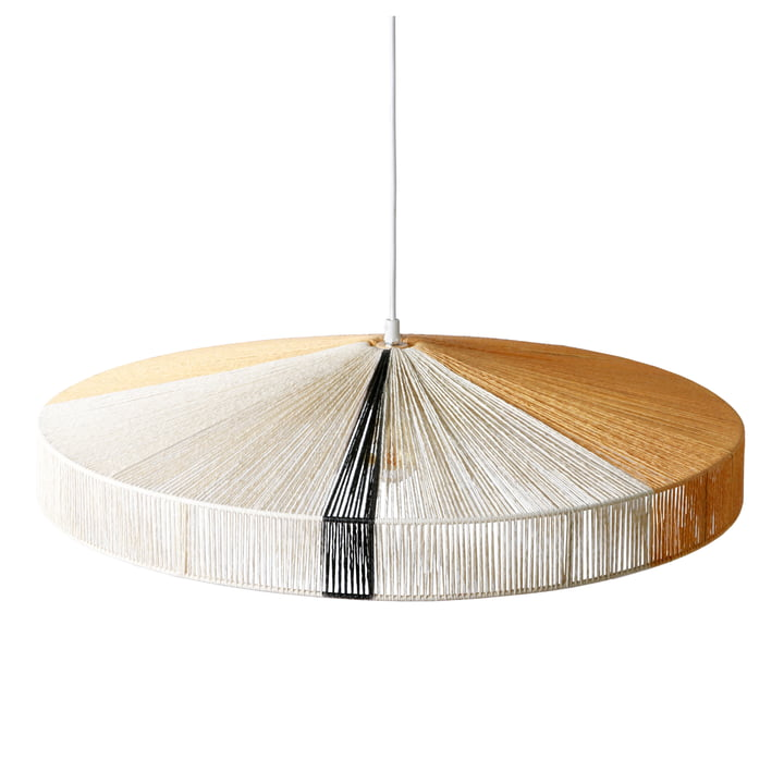 Rope pendant lamp Ø 70 x H 15 cm by HKliving in black