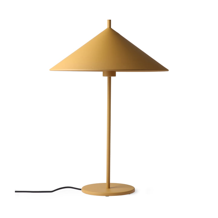 Triangle table lamp L by HKliving in matt ocher