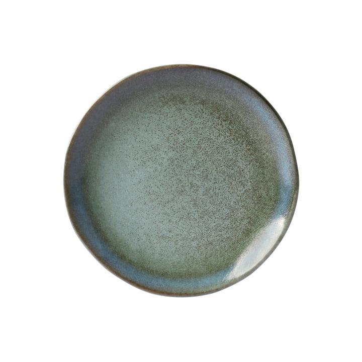 70's Dessert plate Ø 17,5 cm from HKliving in moss green