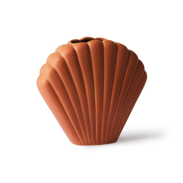 Shell vase M, brown by HKliving