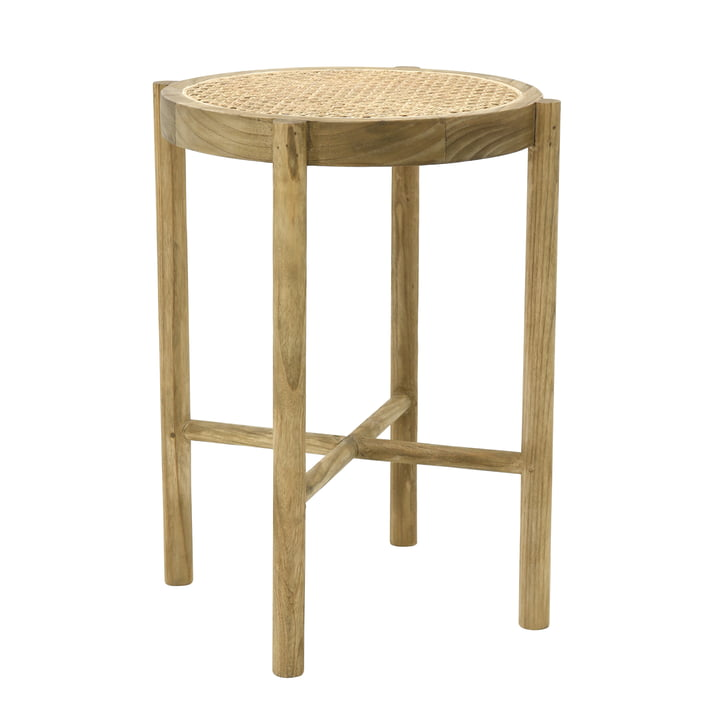 Retro Webbing stool with weave, natural by HKliving