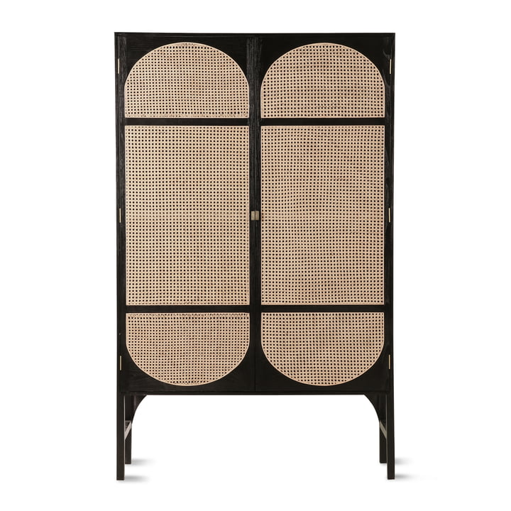 Retro Webbing cabinet with braid from HKliving in black