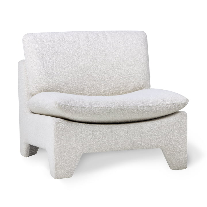 Retro Boucle HKliving armchair by HKliving, cream