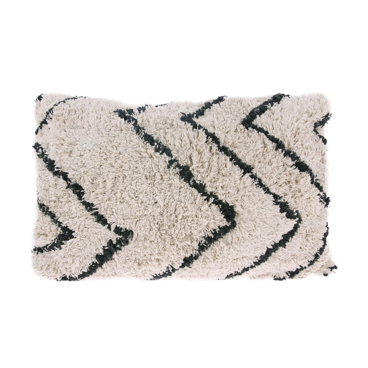 Zigzag cushion 60 x 40 cm by HKliving in black and white
