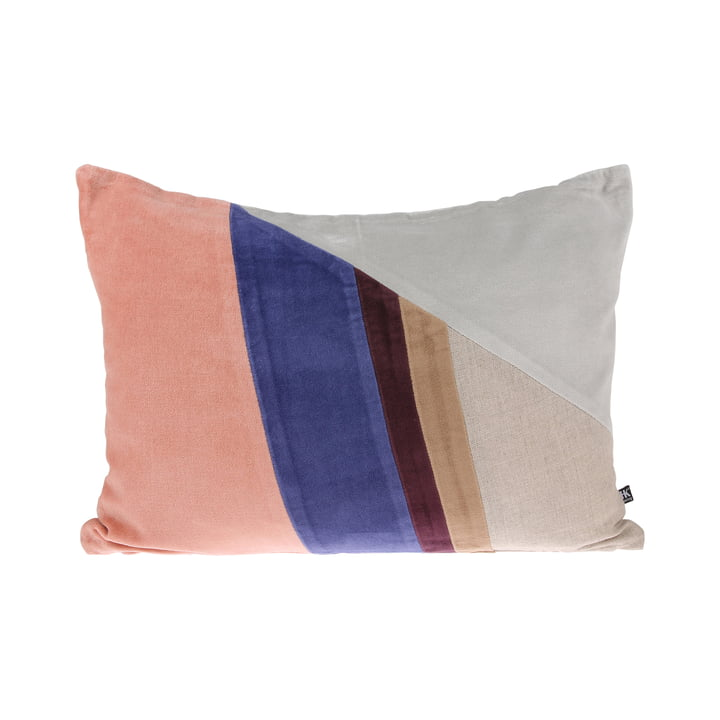 Velvet Patch cushion W 35 x 50 cm by HKliving in multicolor