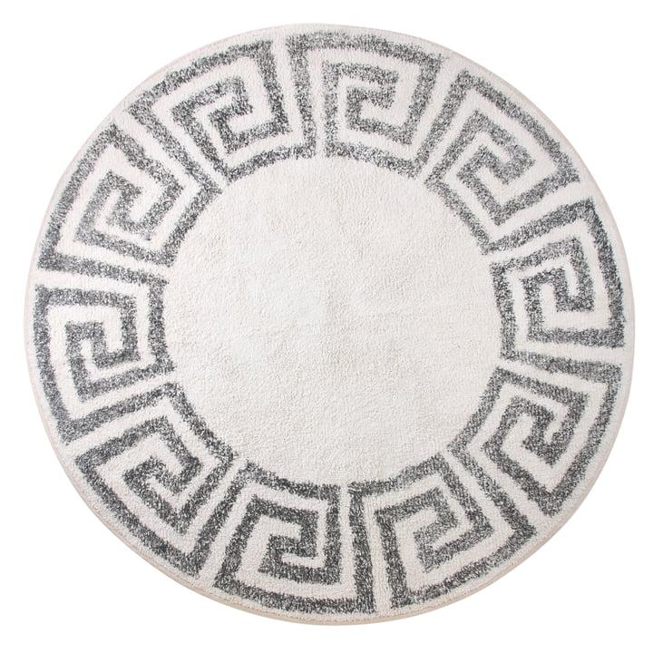 Greek bath mat round L Ø 120 cm by HKliving in gray