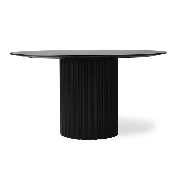 Pillar round dining table, Ø 140 cm, black by HKliving