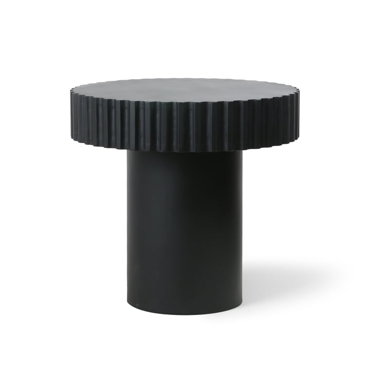 Pillar coffee table, Ø 49 cm, black by HKliving