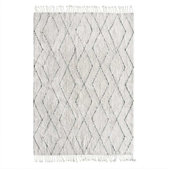 Berber carpet 140 x 200 cm by HKliving in white / black