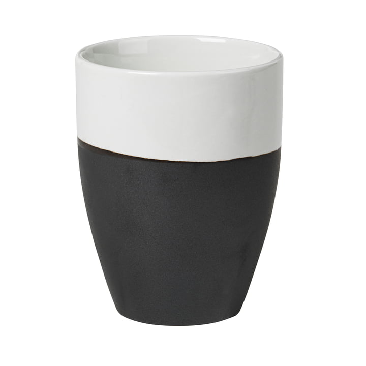 Esrum mug, 25 cl, ivory glossy / gray matt by Broste Copenhagen