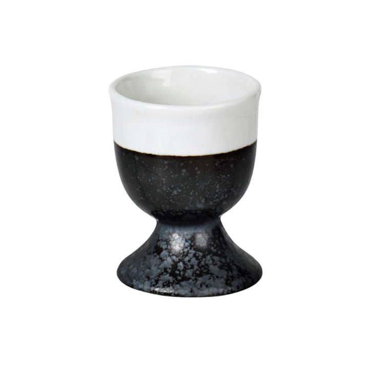 Esrum egg cup, ivory glossy / gray matt from Broste Copenhagen