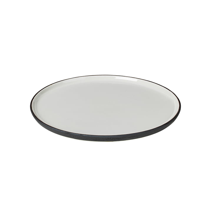 Esrum breakfast plate Ø 21 cm, ivory glossy / gray matt from Broste Copenhagen