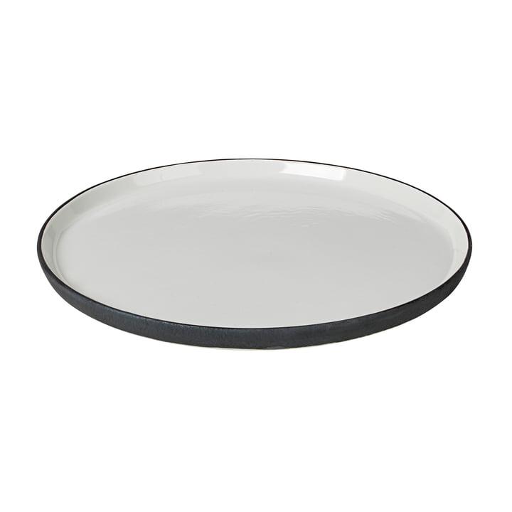 Esrum dinner plate Ø 28 cm, ivory glossy / gray matt by Broste Copenhagen