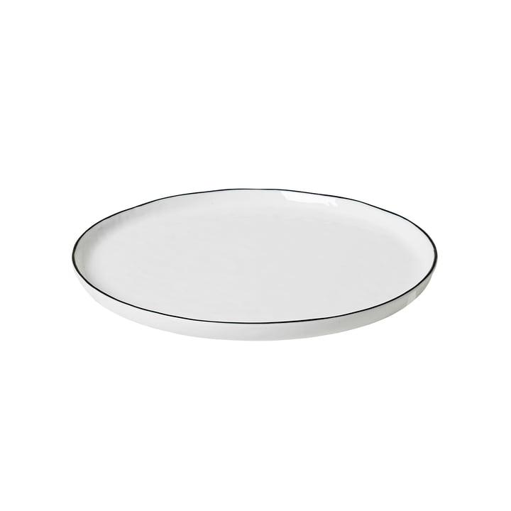Salt breakfast plate Ø 22 cm, white / black from Broste Copenhagen