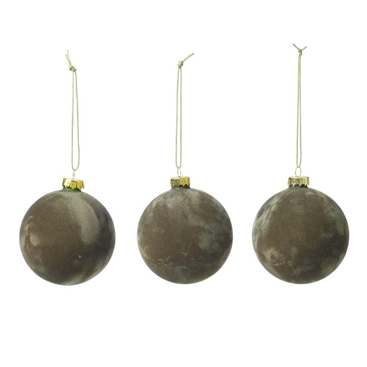 Alcan Christmas tree balls, grape leaf (set of 3) by Broste Copenhagen