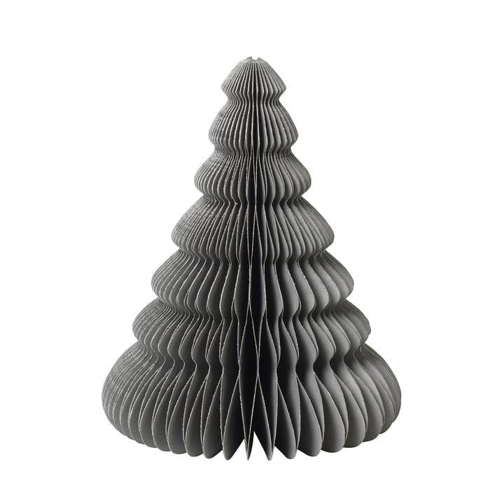 Paper Christmas Tree decoration, Ø 13 x H 15 cm, thyme, Broste Copenhagen