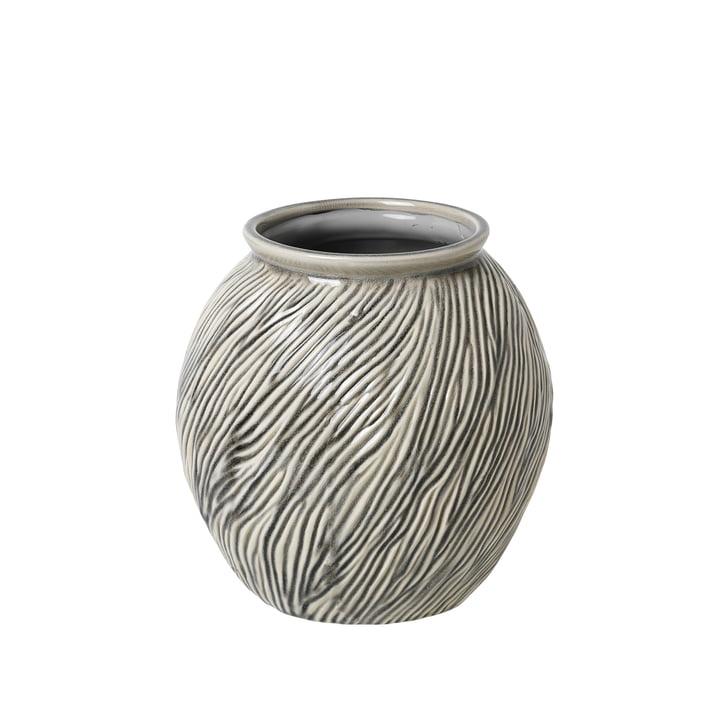 Sandy Vase S, Ø 20.5 x H 21 cm, smoked pearl by Broste Copenhagen
